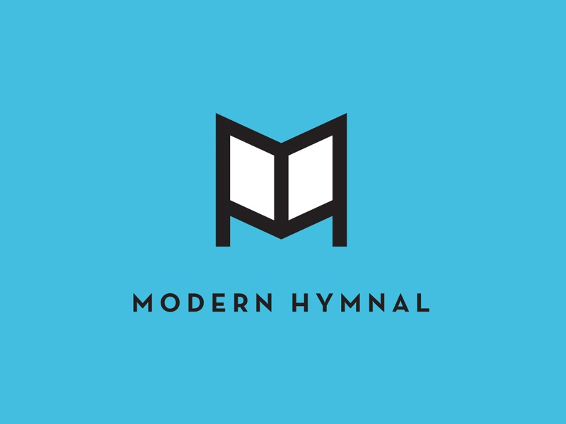 Modern Hymnal music vector thick lines logo brand