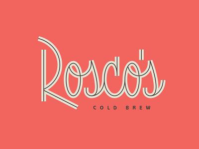 Rosco's #2 script inline cold brew custom type lettering