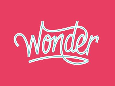Wonder Script logo branding hand custom lettering typography ligatures script inline