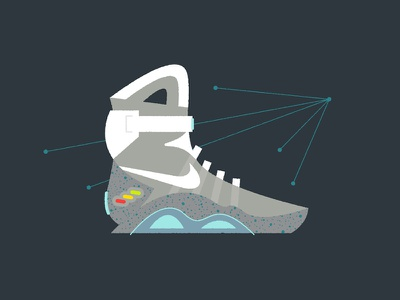 "The ""Mag"" mag back to the future nike illustration mid century abstract vector print poster sneakers"