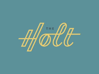 The Holt #1 vector logo branding monoweight custom typography type ligatures lettering
