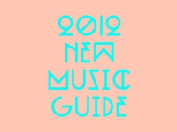 New Music Guide typography