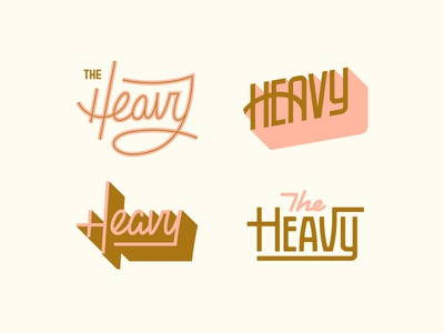 The Heavy #2 (3, 4, and 5) vector typography logotype type retro mono weight logo ligatures lettering industrial custom branding