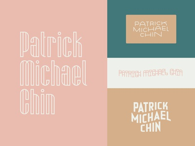 Patrick Michael Chin Rebrand photography typography logotype type mono weight logo ligatures lettering custom branding