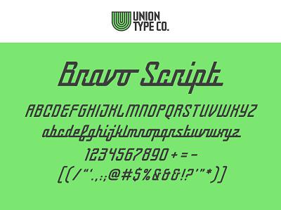 UTC Bravo Script type design custom website type foundry headline fonts headline letterforms fonts lettering typography type