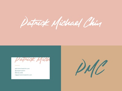 Patrick Michael Chin - Rebrand Pt 2 photography typography logotype type scrip logo ligatures lettering custom branding