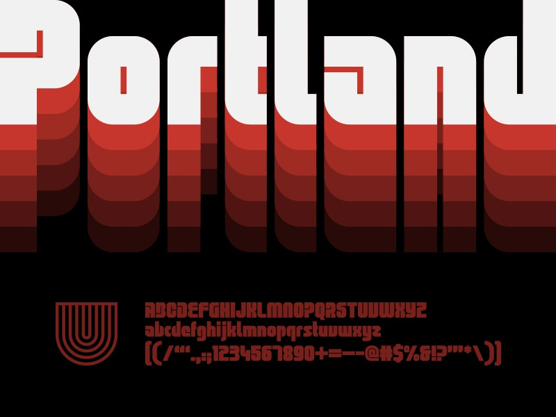 UTC Portland Font type design custom website type foundry headline fonts headline letterforms fonts lettering typography type