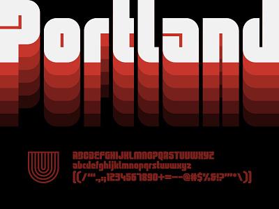 UTC Portland Font type design custom website type foundry headline fonts headline letterforms fonts lettering typography type