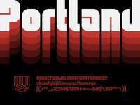 UTC Portland Font