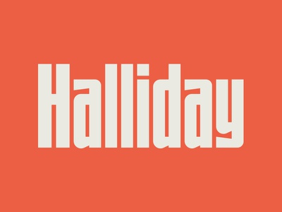UTC Halliday Font WIP type design custom website type foundry headline fonts headline letterforms fonts lettering typography type