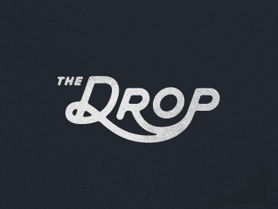 Drop Logo typography