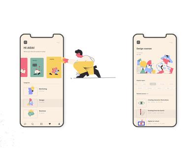 Daily activity app design ilustration appdesign ux ui activity daily acitivity design app