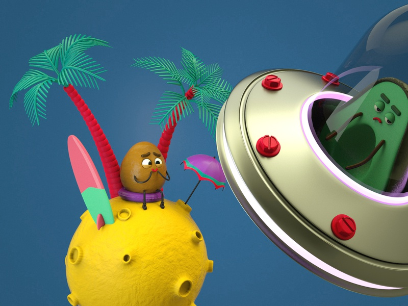 Finding Pit avatar c4d octanerender cinema4d 3dmonsters 3dcharacter character 3d seed pitch avocado