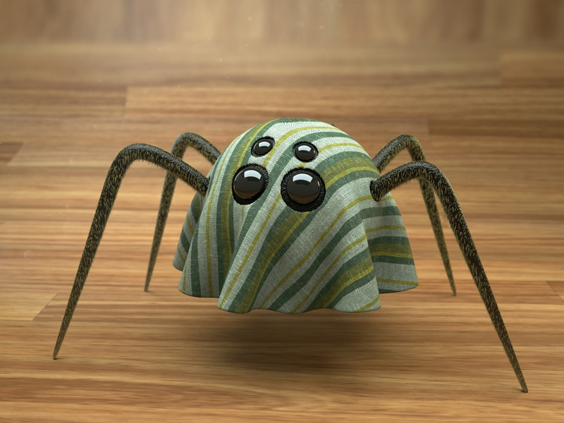 3d spider with cloth cinema4d octane 3dspider spider avatar 3d art 3dcharacter 3d character design