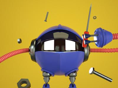 3d robot ready to fix problems 3drobot octane avatar 3d art 3dcharacter character 3d design cinema4d