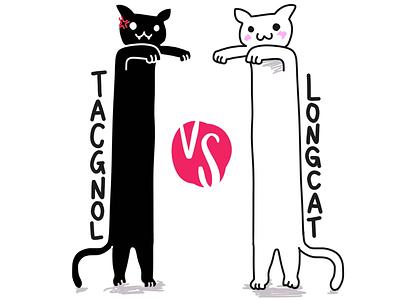 Tacgnol vs Longcat longcat procreate illustration