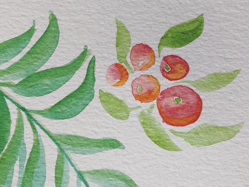 🌱 leaves spring watercolor