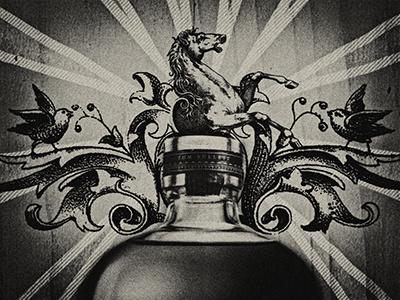 Bulleit Bourbon Print Detail detail graphic print bourbon bulleit whiskey