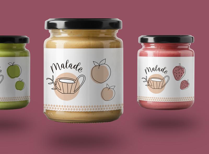 Malade Artesanal Branding identity design logotype logo jam graphicdesign food branding