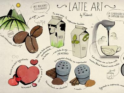 Latte Art Illustration