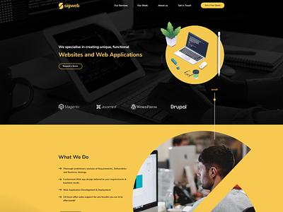 Sigweb web ui design
