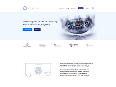 Landing page AI ui web design