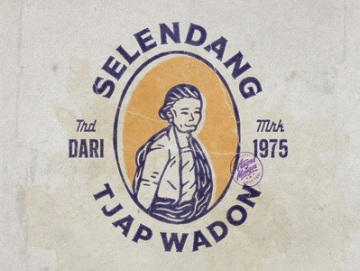 Tjap Wadon typeface designforsale artwork typography logodesign vintage design vintage badge vintage illustration hand drawn graphicdesign design branding badges angonmangsa