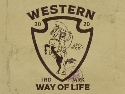 Western Way Of Life horse logo horse rodeo western vintage design vintage badge vintage logo vector ui illustration badges hand drawn graphicdesign design branding angonmangsa