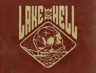 Lake Of Hell brand merch design merchandise merch apparel design apparel tshirtdesign tshirt typography logodesign vintage design vintage badge vintage illustration hand drawn graphicdesign design branding badges angonmangsa