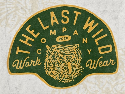 The Last Wild wild west wilderness tiger wild animal tshirt wildlife wild typography logodesign vintage design vintage badge vintage illustration hand drawn graphicdesign design branding badges angonmangsa