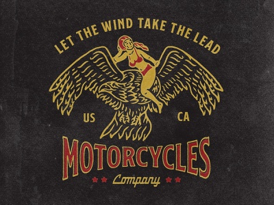 Let the wind take the lead artwork graphic design tshirt bikers bike motorcycle motor typography logodesign vintage design vintage badge vintage illustration hand drawn graphicdesign design branding badges angonmangsa