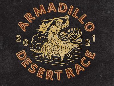 Armadillo Desert Race tshirtdesign tshirt western skull badge race desert badgedesign typography logodesign vintage design vintage badge vintage illustration hand drawn graphicdesign design branding badges angonmangsa