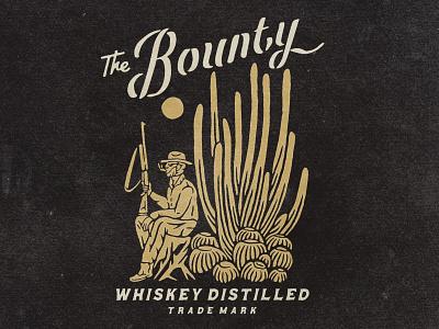 The Bounty cowboy hunter hunting whiskey western typography logodesign vintage design vintage badge vintage illustration hand drawn graphicdesign design branding badges angonmangsa