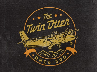 The Twin Otter tshirt design tshirtdesign tshirt art tshirt aircraft airline airplane air typography logodesign vintage design vintage badge vintage illustration hand drawn graphicdesign design branding badges angonmangsa