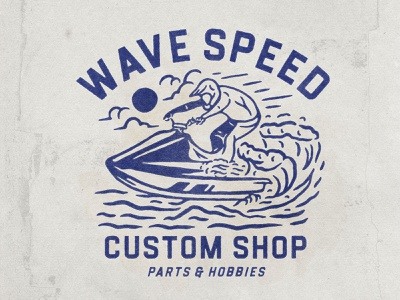 Wave Speed water surfing surf waves wave jet jets hobbies typography logodesign vintage design vintage badge vintage illustration hand drawn graphicdesign design branding badges angonmangsa