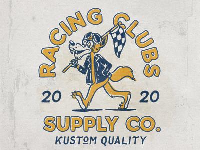 Racing Club character motorcycle racing ui vector logo illustration hand drawn graphicdesign design branding badges angonmangsa
