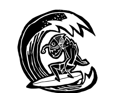 baltic.surf illustrator logo surfing surf