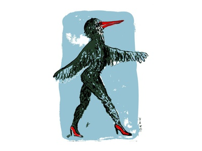 lady bird femme femine illustration illustrator woman lady fashion