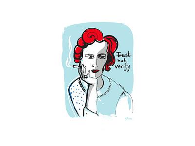 trust illustrators illustrator femenine femme