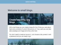 small blogs