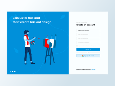 Daily UI #001 - Sign Up daily 100 challenge daily sign in ux design ui design user interface design uiux design web design website user experience user inteface uiux ux ui 001 design sign up signup daily ui dailyui