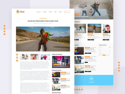 SiPaud Article Page uiux design user inteface card learning app news app feed clean home page education blog news article page article website web website design web design landing page design landing page