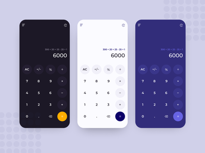 Daily UI #004 - Calculator light ui light ui user inteface mobile app dark app counter button design app light mode dark theme dark ui dark mode calculator app calculator ui calculator calculate dailyuichallenge daily ui 004