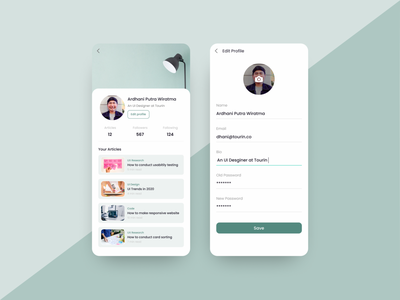 Daily UI #006 - User Profile list cards dashboard white user inteface news article blog clean figma profiles daily ui 006 mobile app edit profile user profile profile minimalist clean ui ui ux