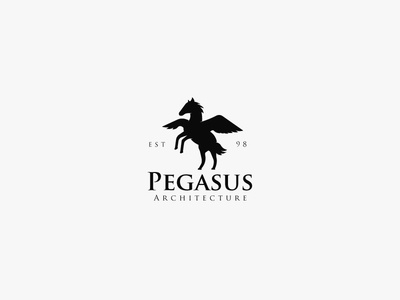 Architectural Firm Logo - Daily Logo Challenge - Day 43 architecture logo pegasus pegasus logo elegant logo premium logo premium royal logo design marks branding brand mark logos logo illustration dailylogochallenge art