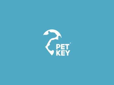 Petkey - Pets Protection company logo freelancer freelance vector marks design branding mark art brand negative space logo logos logo logodesigns logodesigner logodesign agenct company profile company branding company logo negativespace