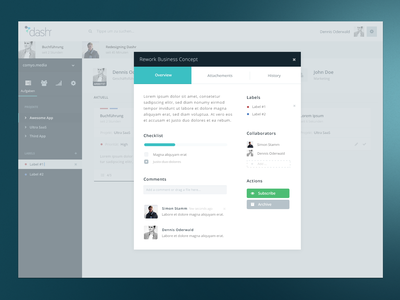 Detail Modal Design ui web clean flat app modal interface modern