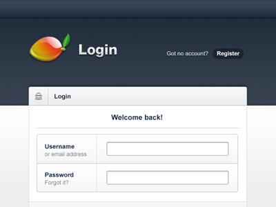 Admin Template - Login admin blue login web ui ux