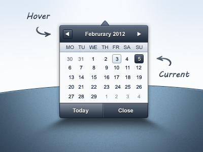 Admin Template - Datepicker admin blue web ui ux datepicker