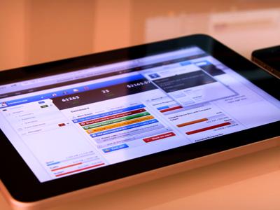 Admin Template - iPad web ui blue ux admin ipad navigation mail dashboard